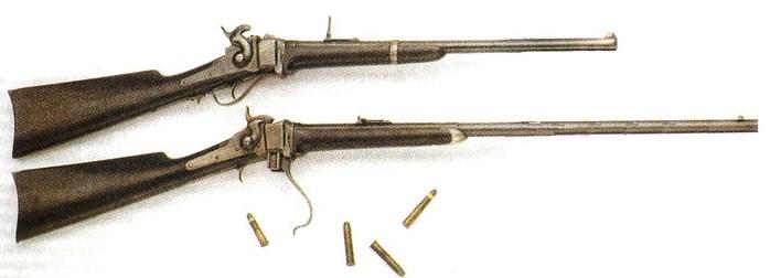 1)Карабин и винтовка Шарпса – первое снайперское оружие