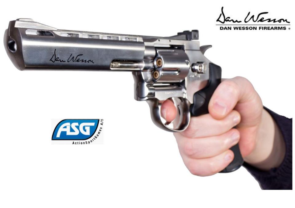 1)Пневматические револьверы ASG Dan Wesson